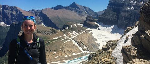cate beebe glacier national park hiking climbing petra cliffs