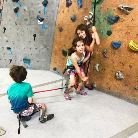 Mini Monkeys Kids rock climbing afterschool program petra cliffs